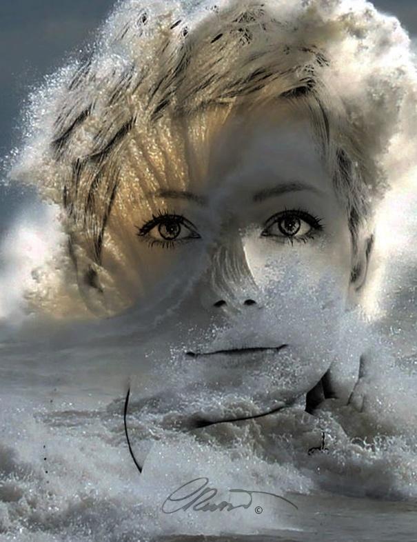 When Nature Meet Humans - Portrait #3 Silver Wave